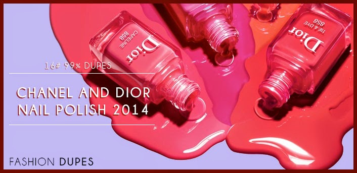 chanel and dior nailpolish 2014 dupes