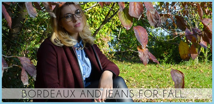 bordeaux and jeans for fall