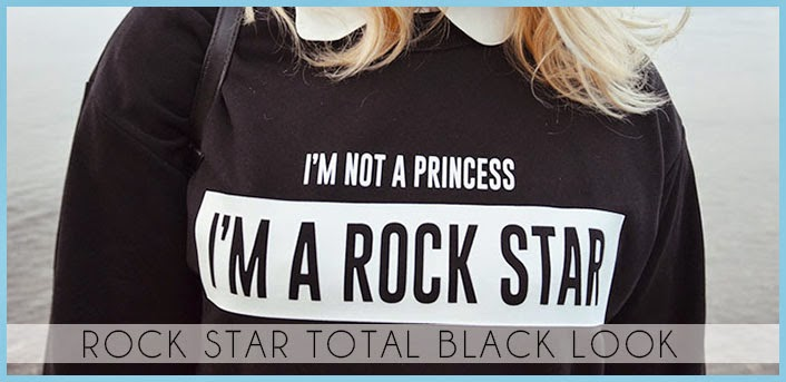 rock star total black look