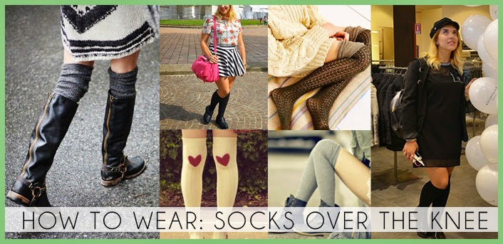 how to wear socks over the knee