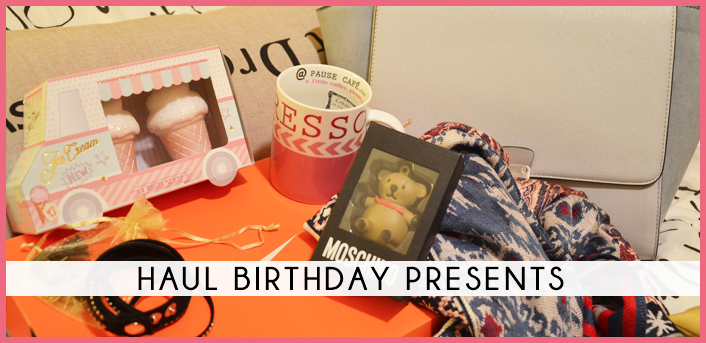 haul birthday present fashion dupes