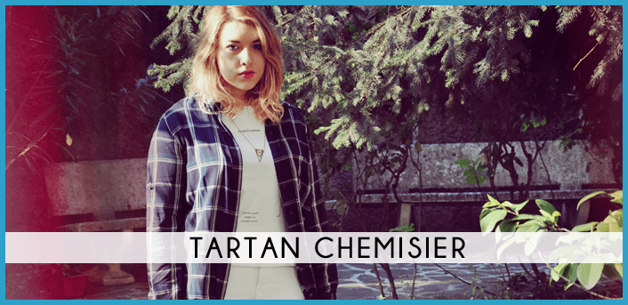 tartan chemisier fashion dupes