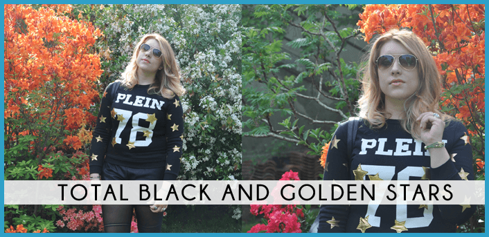 golden stars nike bag sunglasses black gold blackfive outfit style fashion dupes total black spring