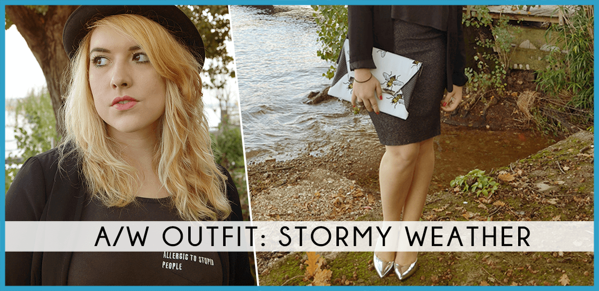 stormy weather vfno look fashion dupes fall autumn grey silver bag bee api axel