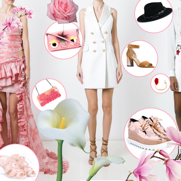 cover farfetch fashion dupes look spring expensive clothes pink copia