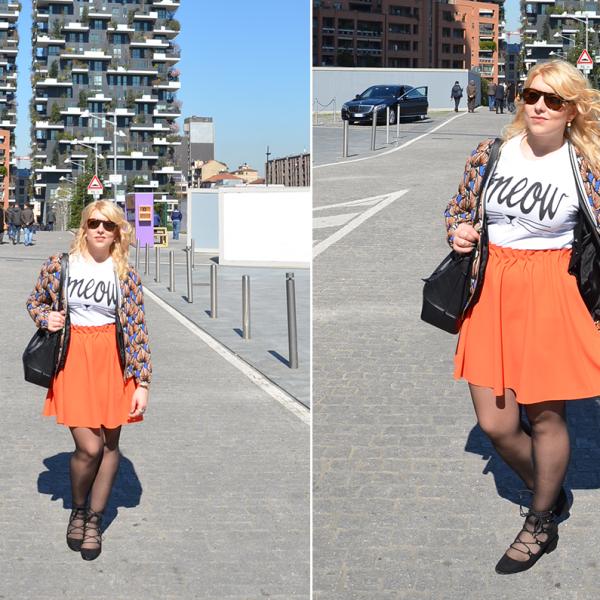 look outfit style fashion dupes orange arancione blazer cover