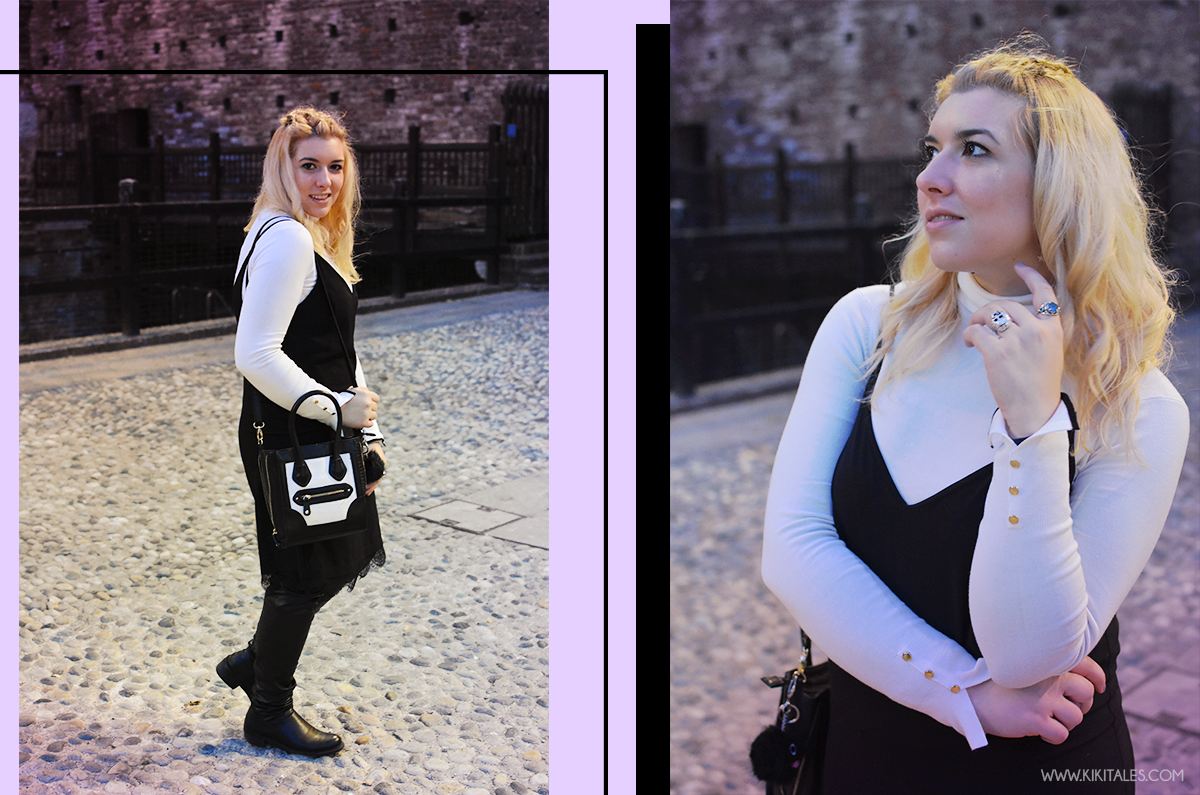 black-and-white-hairstyle-make-up-kiki-tales-fall-autumn-autunno-outfit-look-lingerie