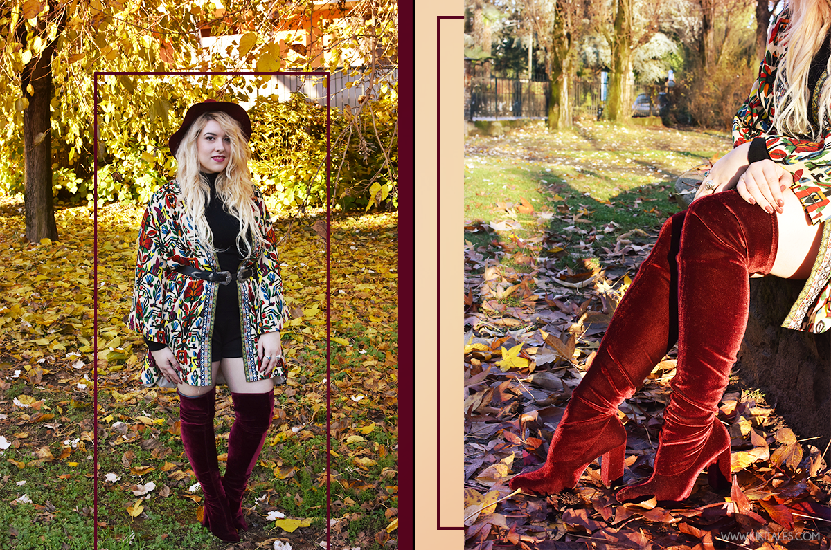 velluto-suede-boots-stivali-zara-burgundy-bordeaux-kiki-tales-shein-coat-black-outfit-fall-look-style