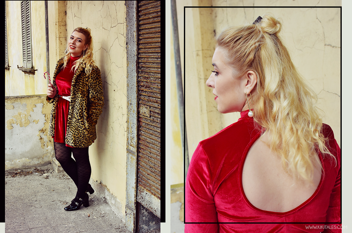 Outfit di Natale: Abito rosso di Shein