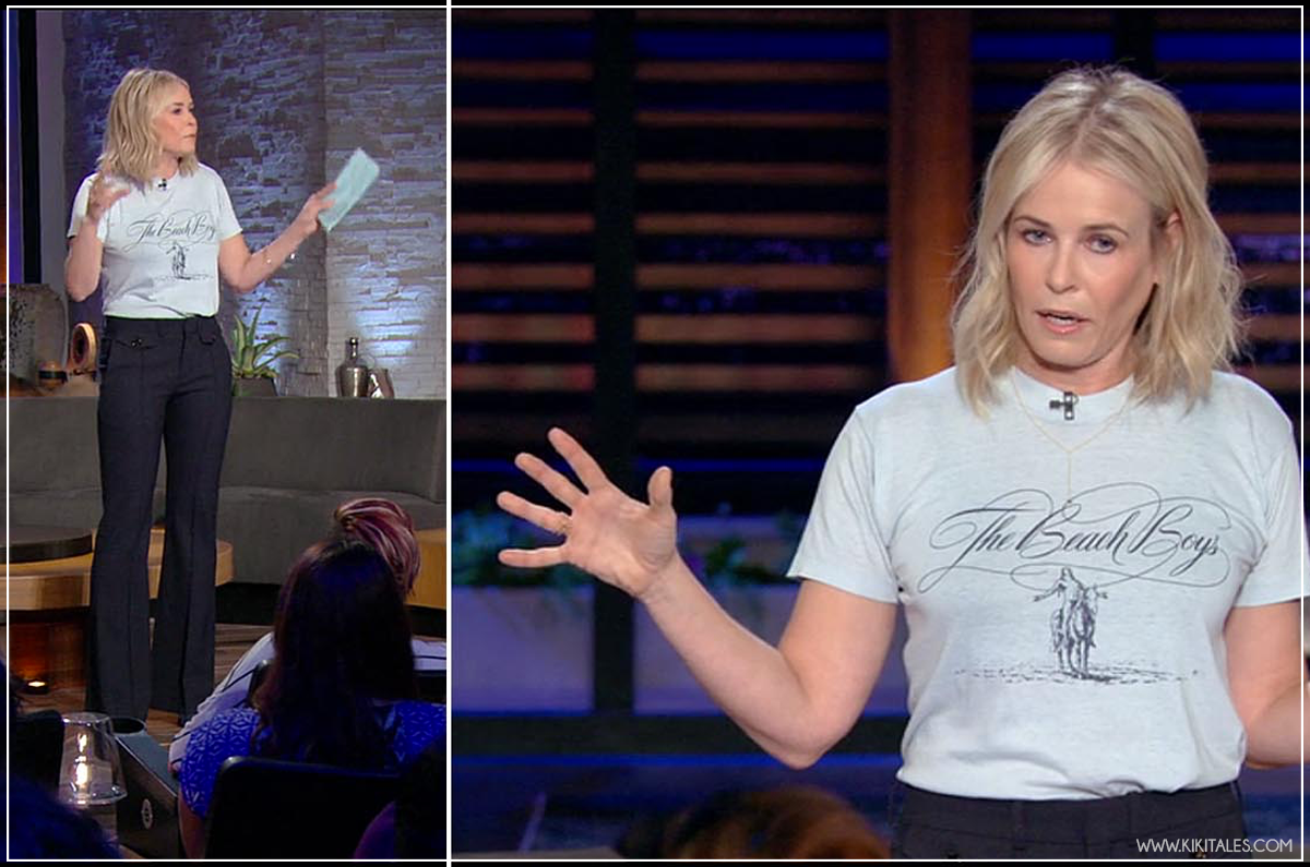 groopie outfit - Chelsea Handler look su Netflix