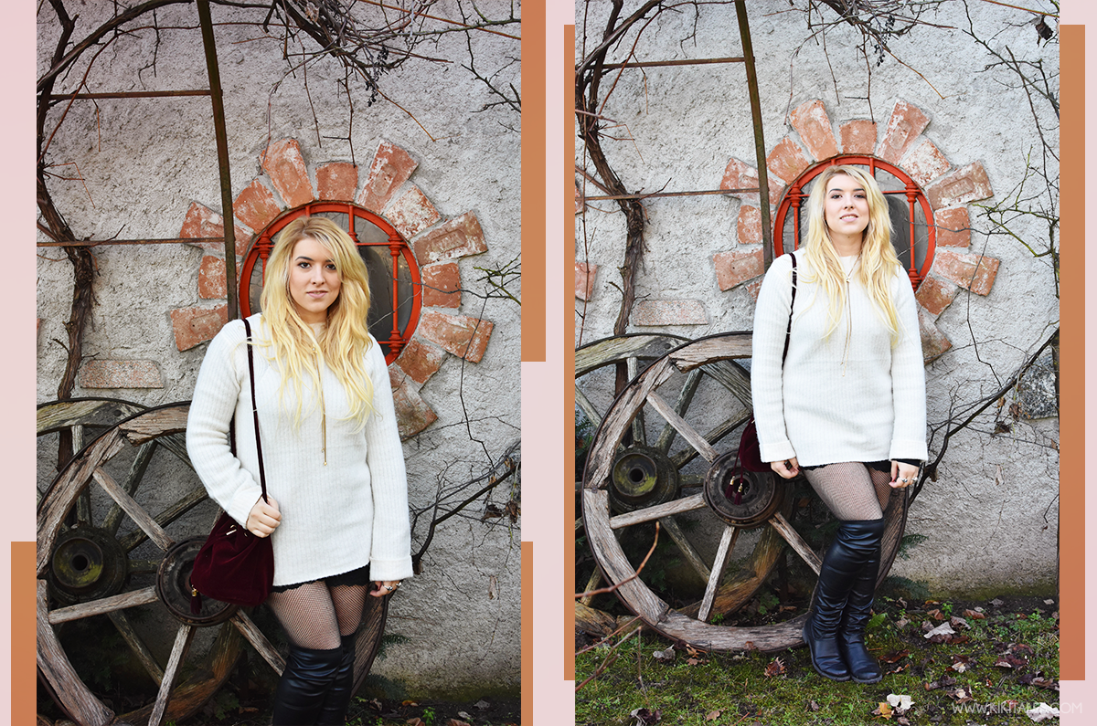 Come indossare un maxi maglione come vestito in autunno inverno