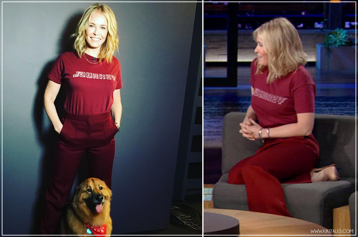 red outfit Chelsea Handler - copia i look di Netflix