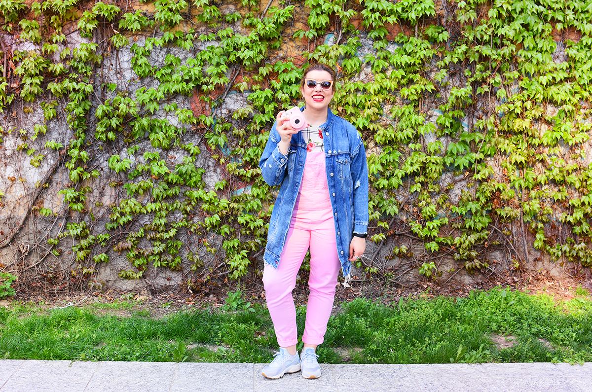 salopette rosa outfit primavera spring kiki tales pink overalls