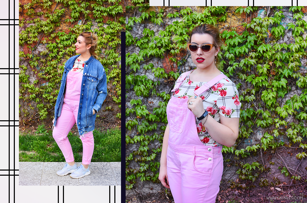 salopette rosa outfit primavera spring kiki tales pink overalls
