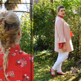 rosa e rosso Pink and Red kiki tales look ootn ootd outfit