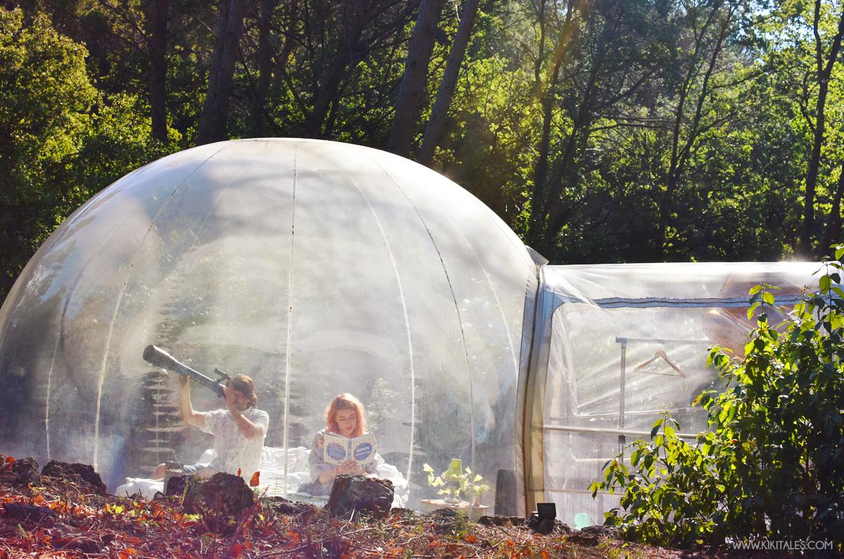 dormire in una bolla trasparente provenza glamping kiki tales