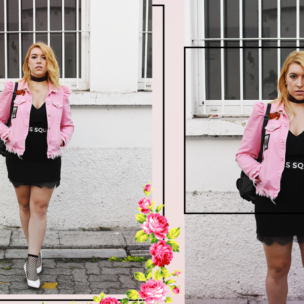 kiki tales pink kiss jacket lingerie dress Giacca di jeans in versione chic rosa zara