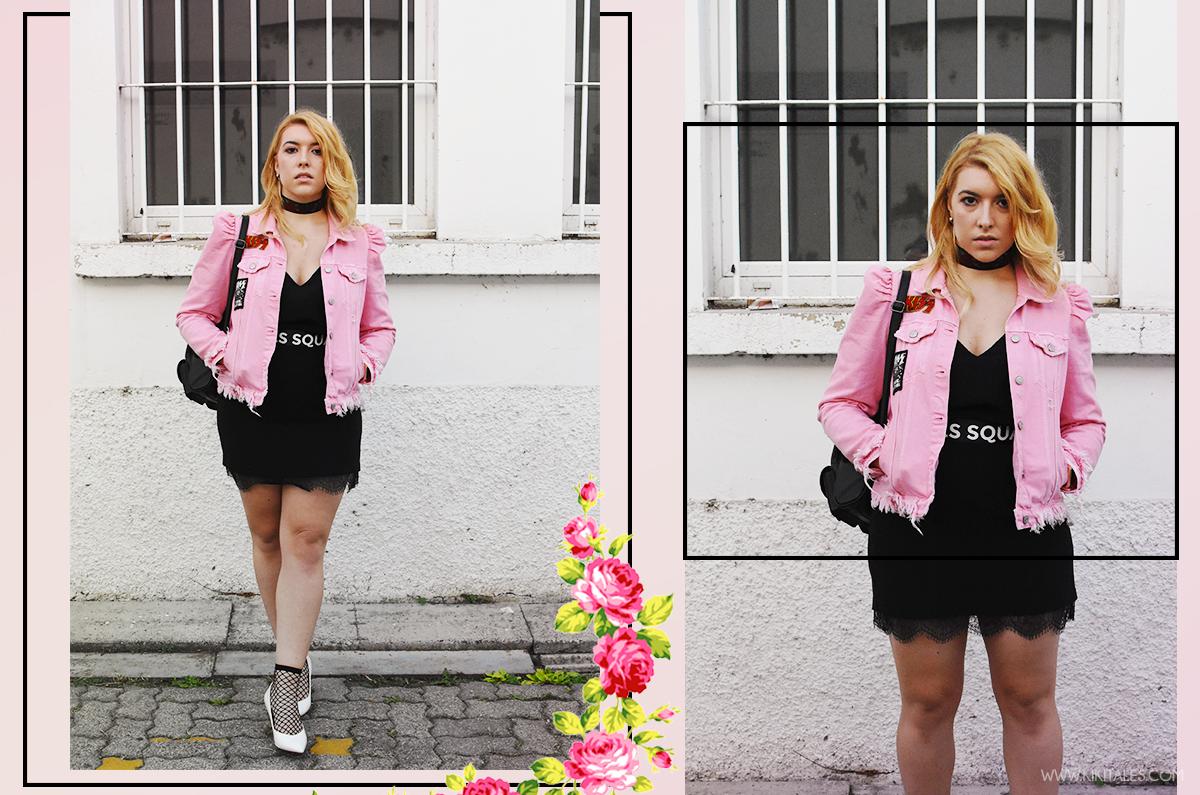 kiki tales pink kiss jacket lingerie dress Giacca di jeans in versione chic rosa zara