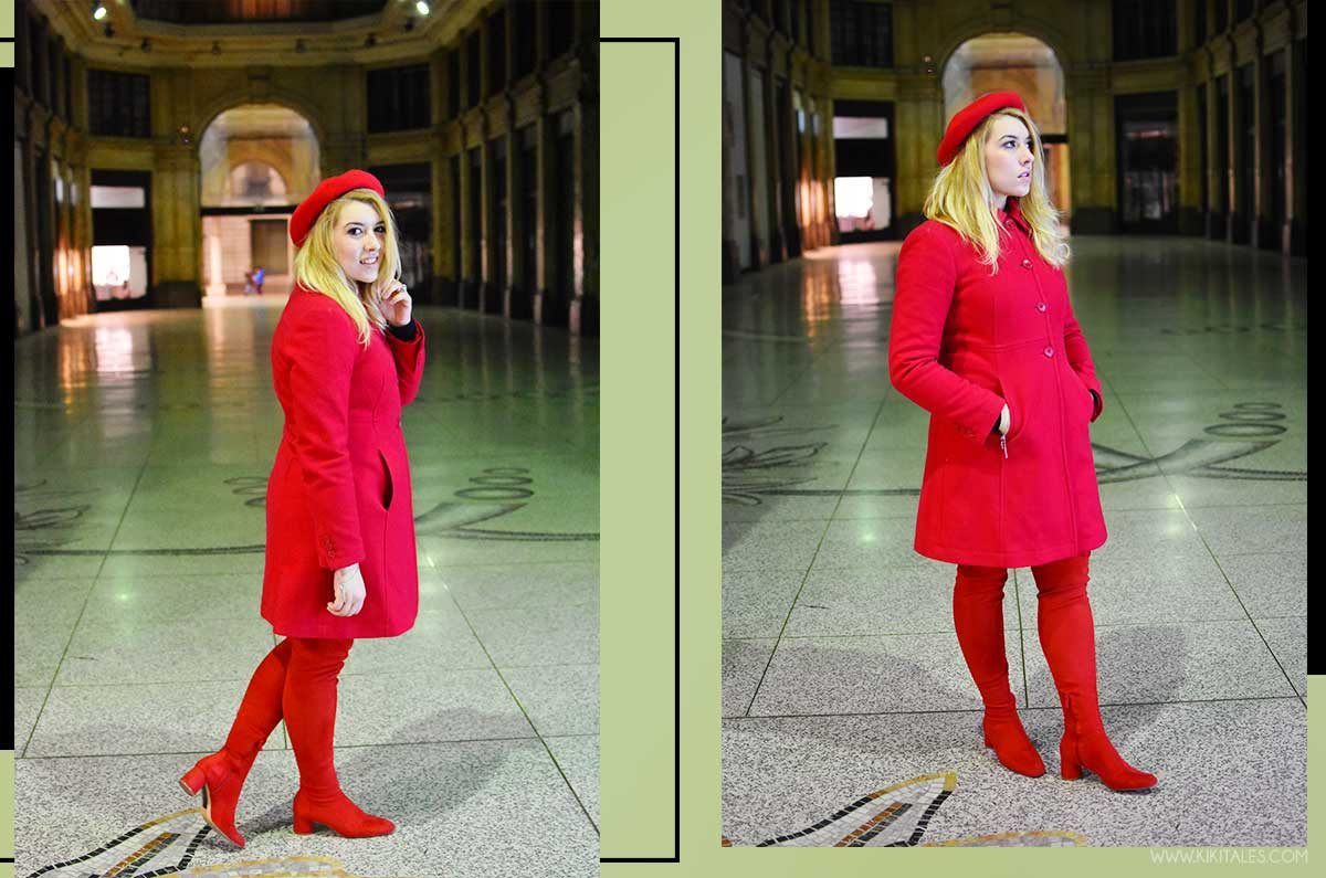 cappotto rosso total red look rosso kiki tales