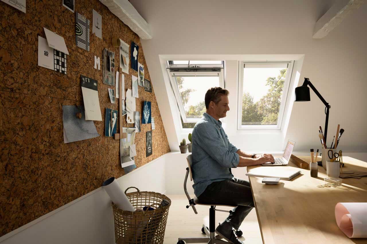 studio in mansarda velux