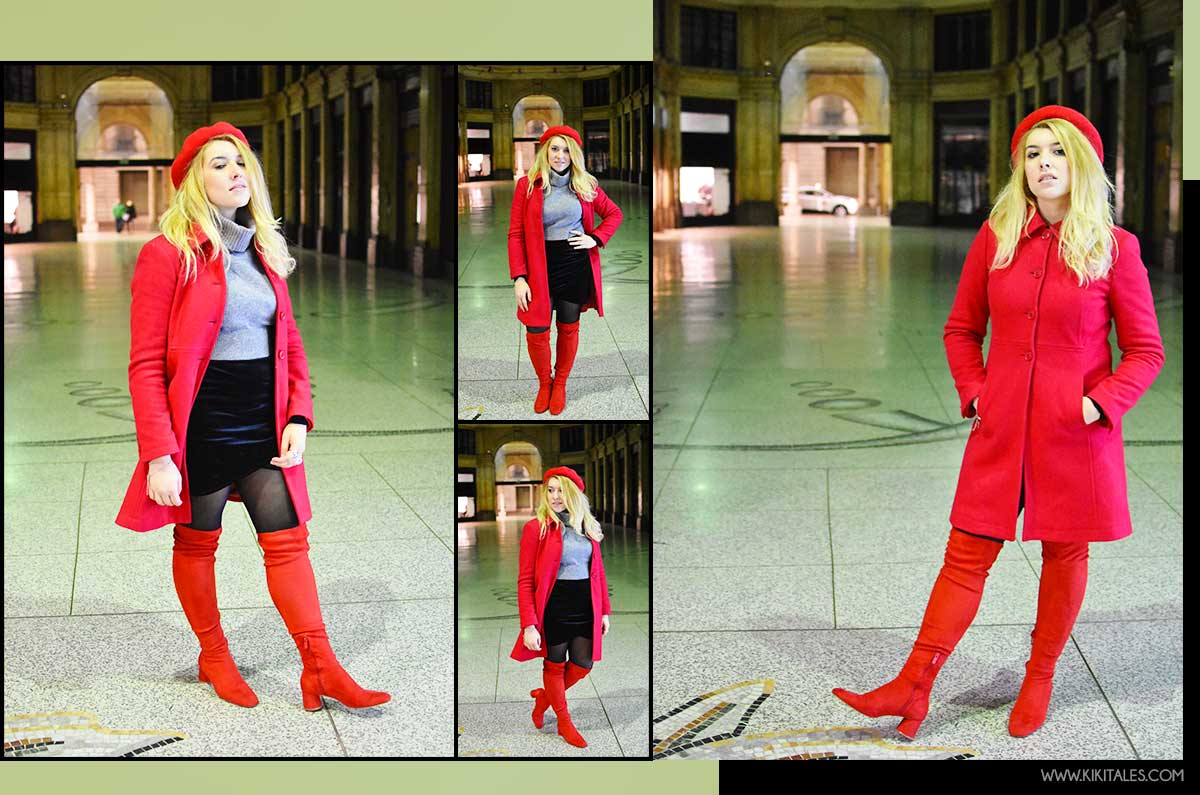 tendenze cappotto rosso total red look rosso kiki tales
