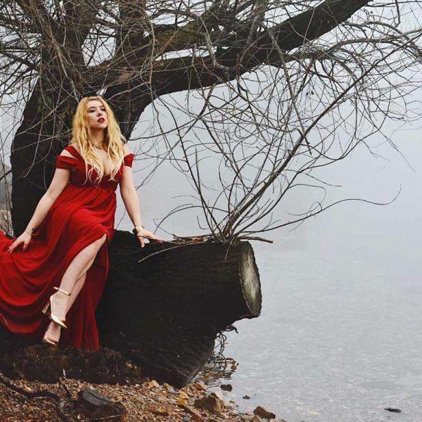 abito rosso elegante san valentino kiki tales shein