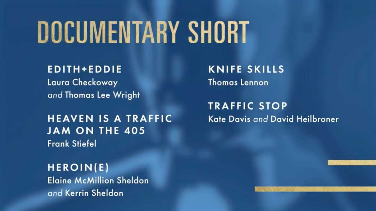 Best Documentary Short Subject- Miglior Cortometraggio Documentario Nomination Oscar 2018