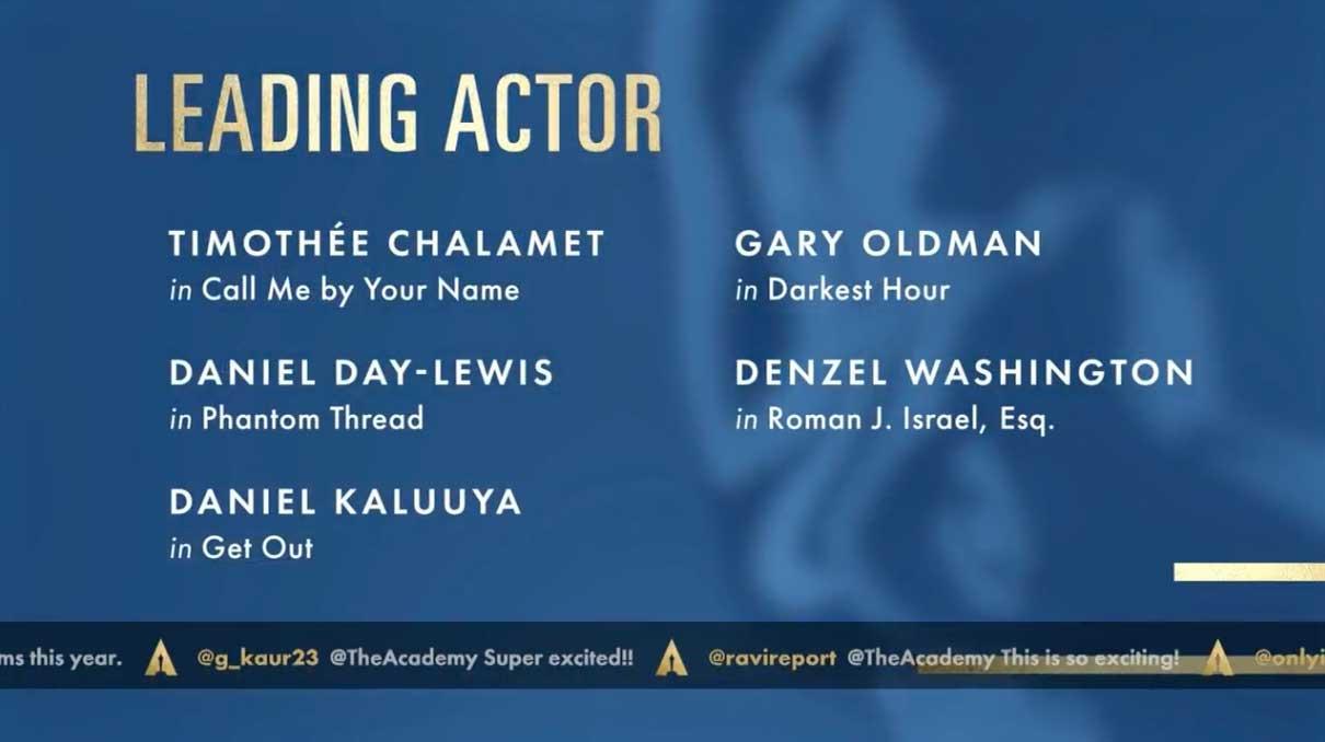 leading actor migliore attore protagonista nomination oscar 2018