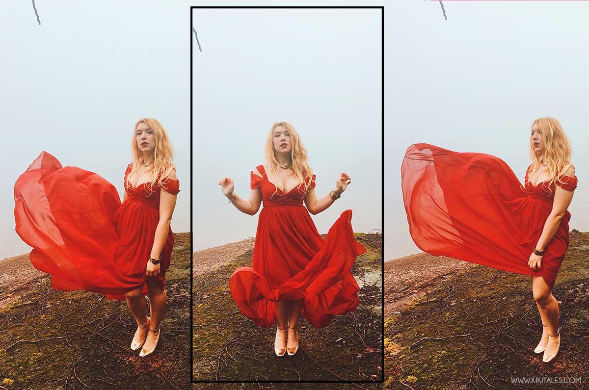 look sexy romantico abito rosso elegante san valentino kiki tales shein