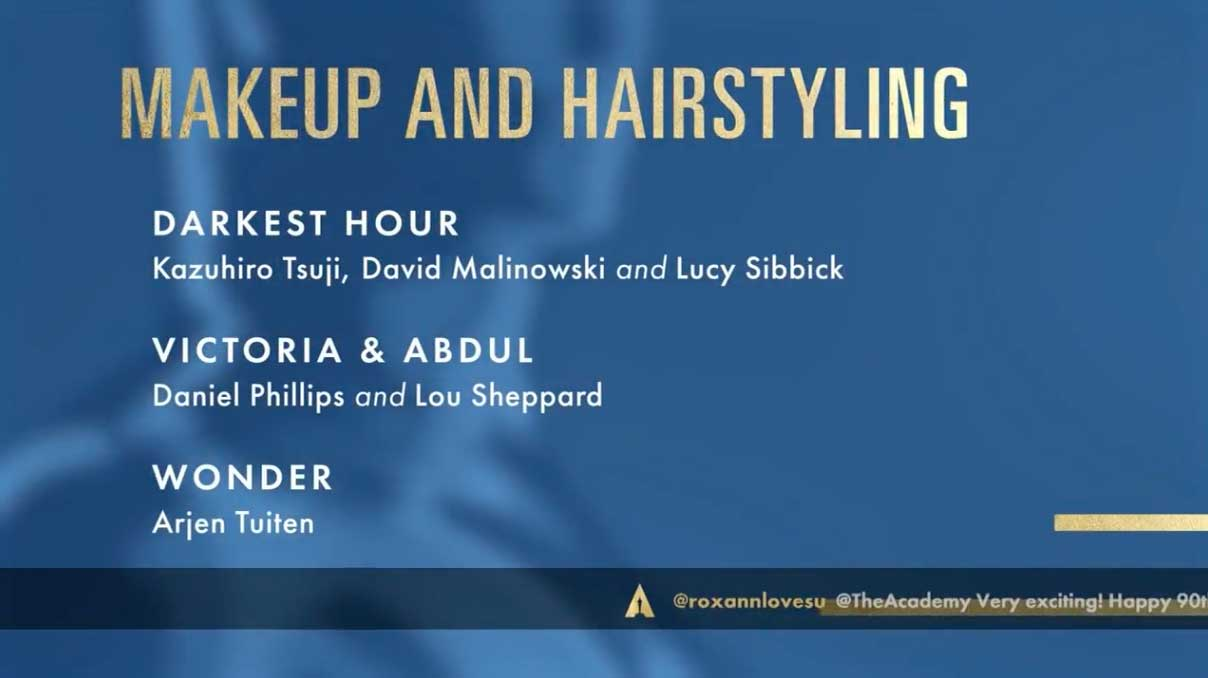 Make up and Hairstyle - Miglior Trucco e Acconciatura Nomination Oscar 2018