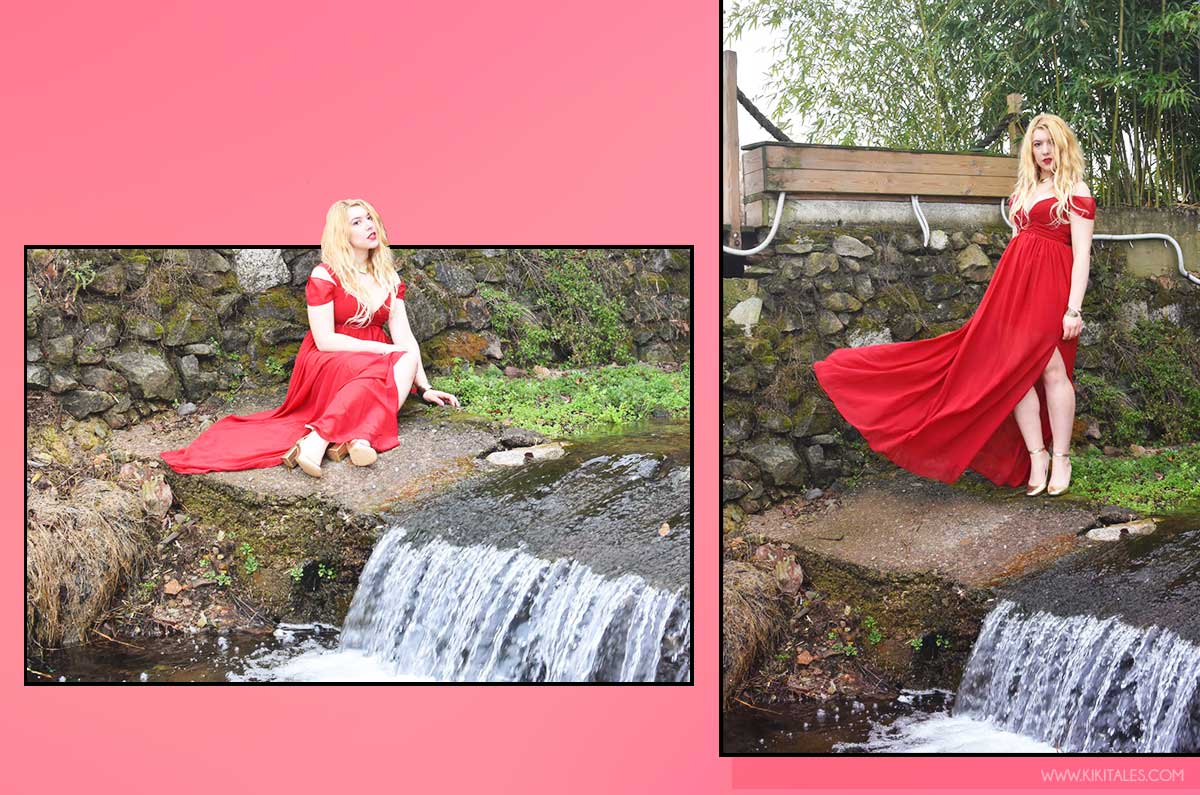 cerimonia romantico abito rosso elegante san valentino kiki tales shein