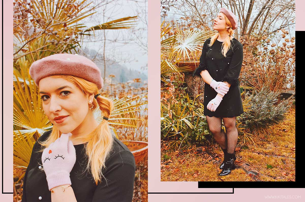 autunno primavera abito perle nero con piume shein kiki tales