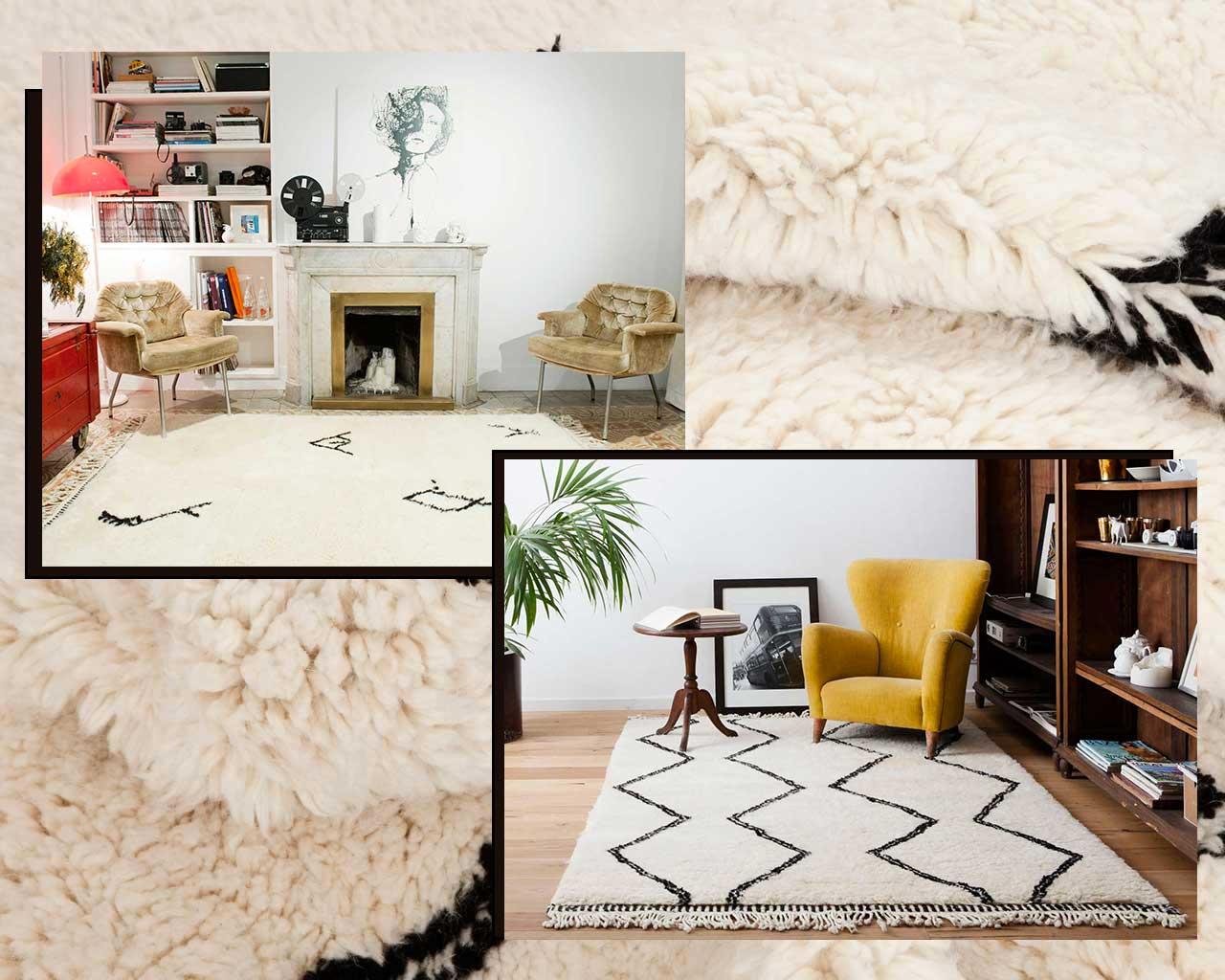 tappeto fatto a mano Beni Ourain Sukhi