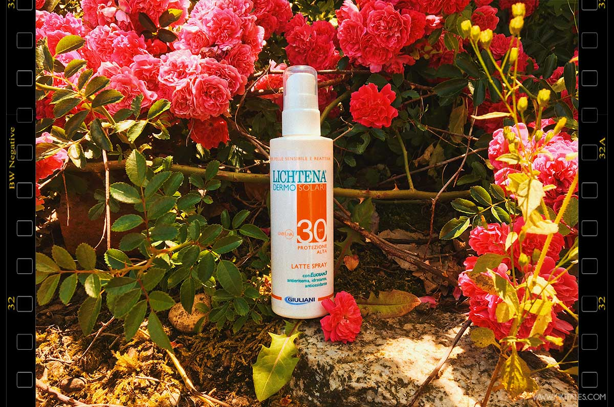 spray Lichtena® DERMOSOLARI review kiki tales protezione 30