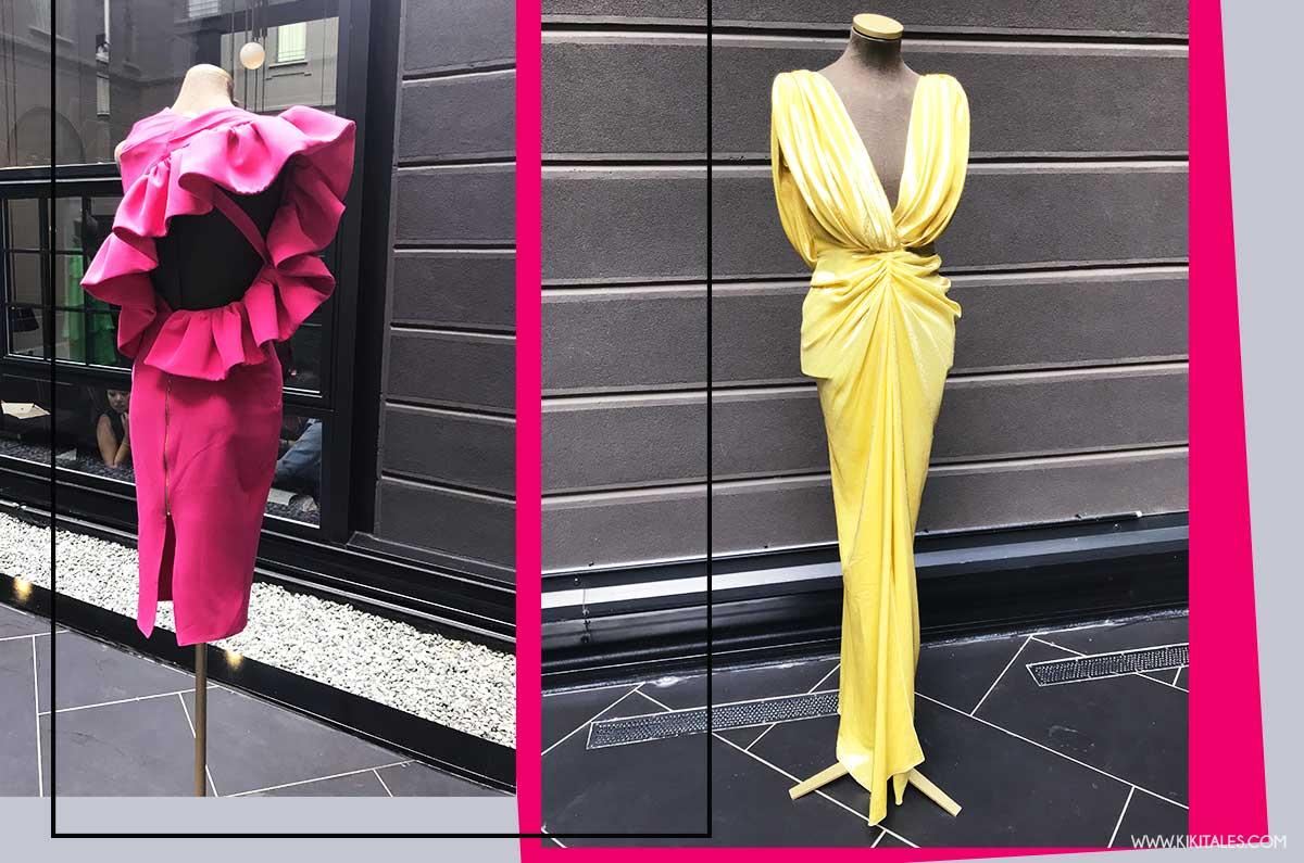 Abiti cocktail ed eleganti di Rhea Costa collezione primavera estate 2019 Milano Fashion Week