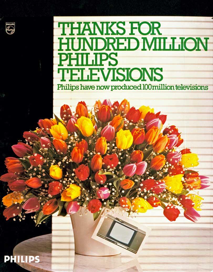 100 millionesimo televisore di philips