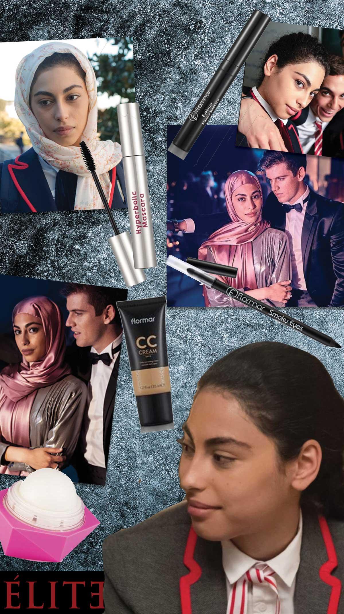 copia il make up di Élite: Nadia Shana interpretata da Mina El Hammani, Netflix
