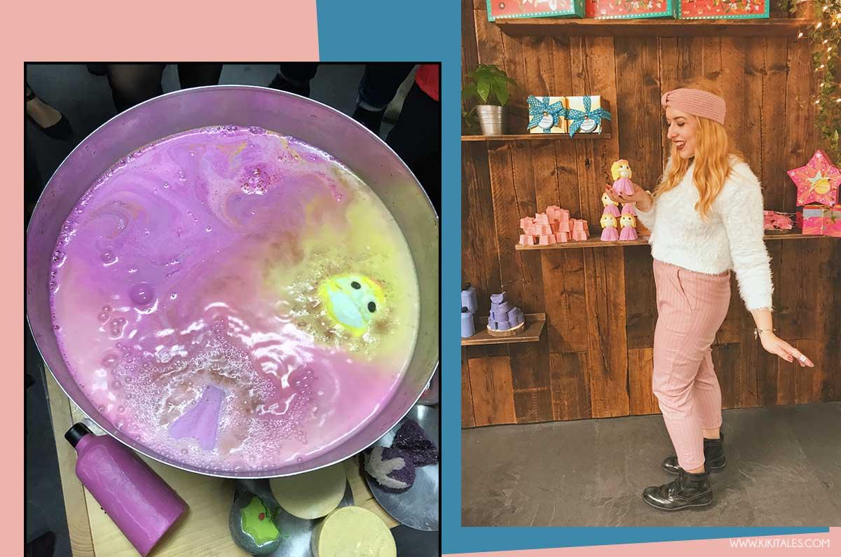 Princess Bom Bom sciolta in acqua della collezione di Lush per Natale