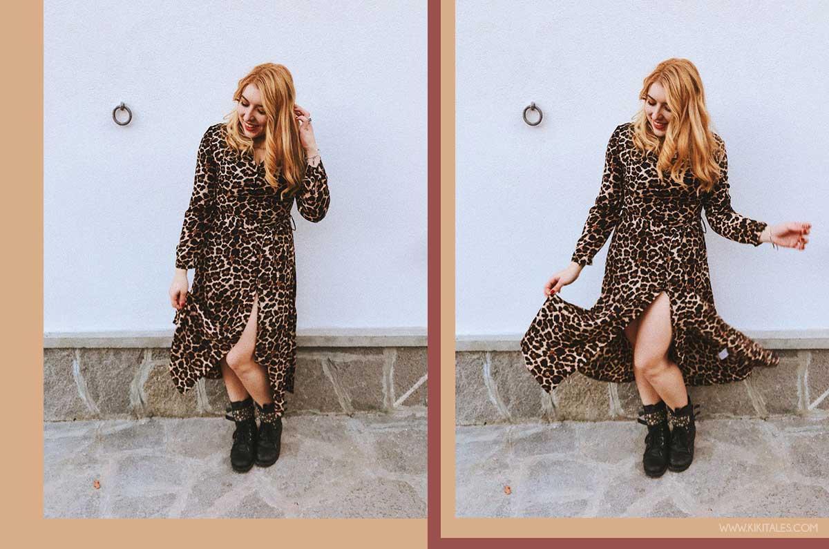 abito a camicia animalier - total look leopardato