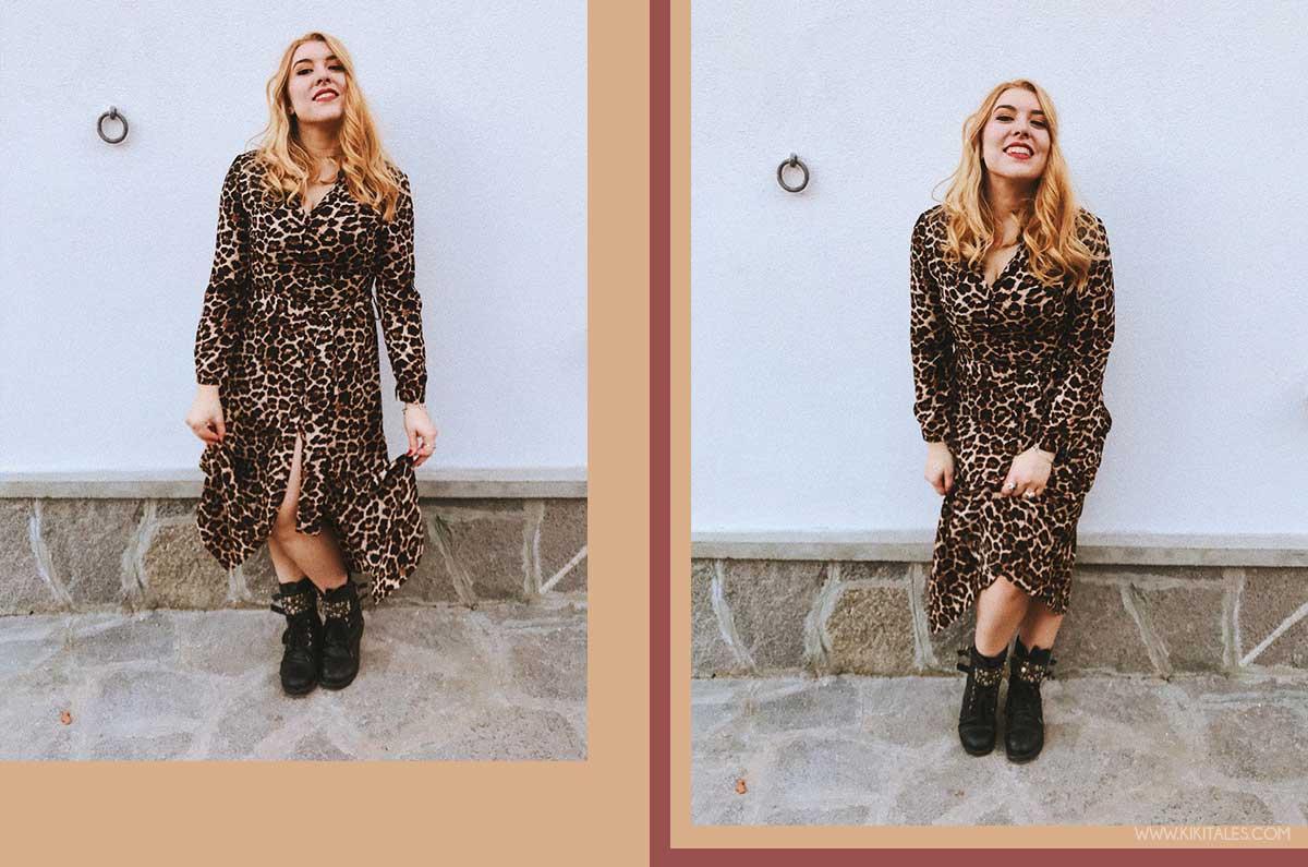 abito a camicia economico - total look leopardato