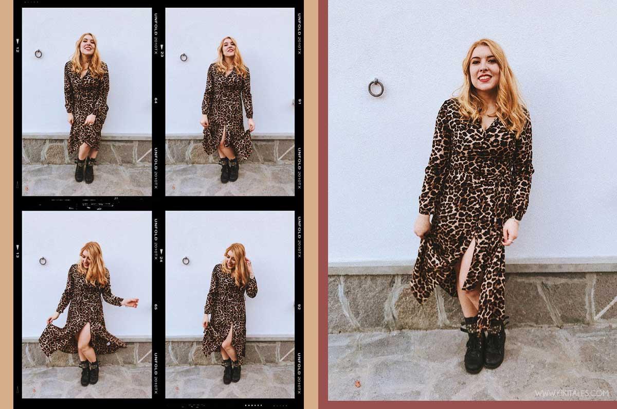 abito animalier economico camicia a stampa leopardata Total look leopardato