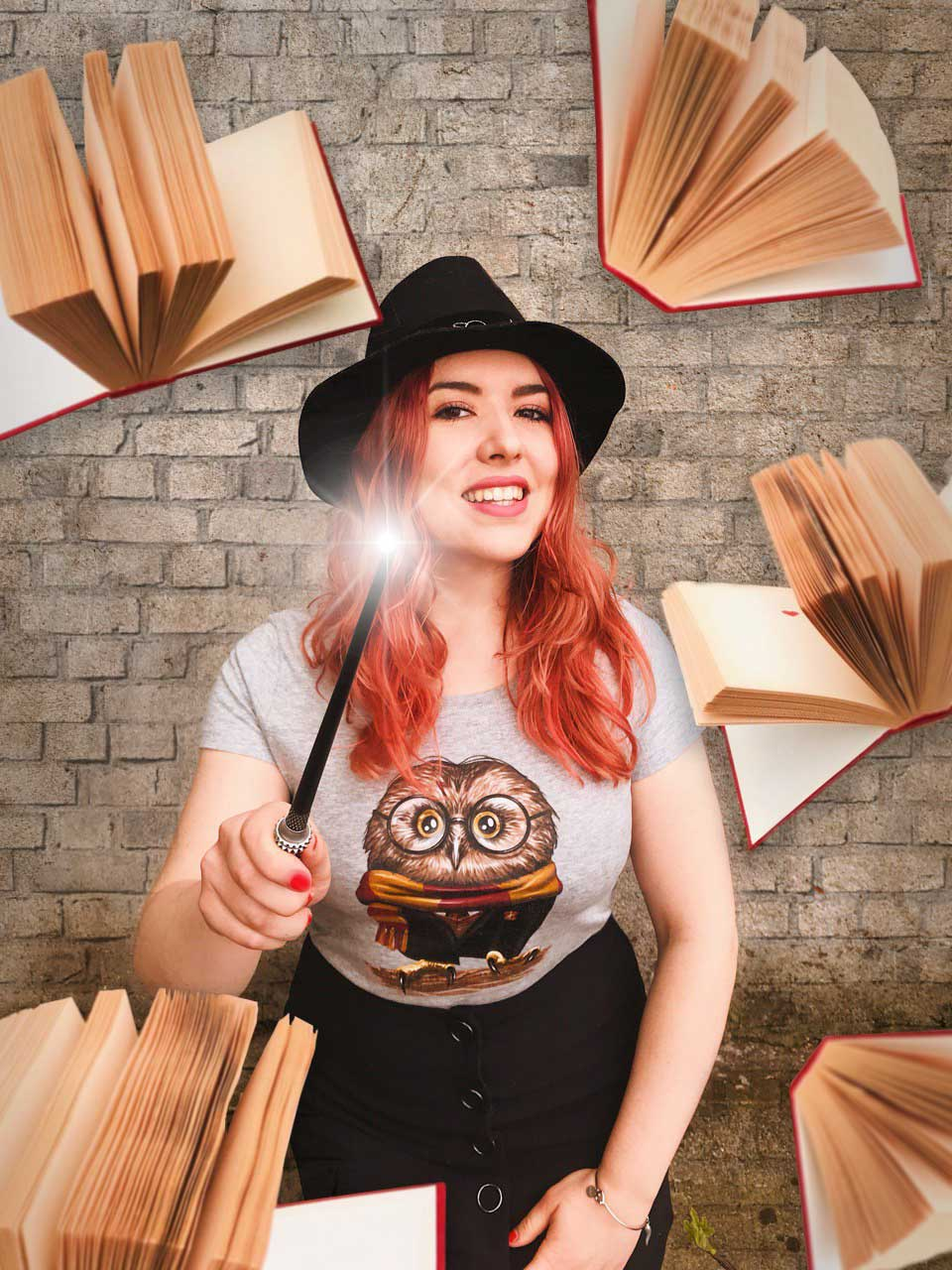 Pac Design: T-shirt nerd da ragazza - Harry Potter