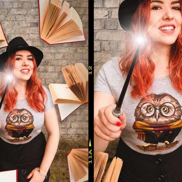 pac design tshirt nerd per ragazza