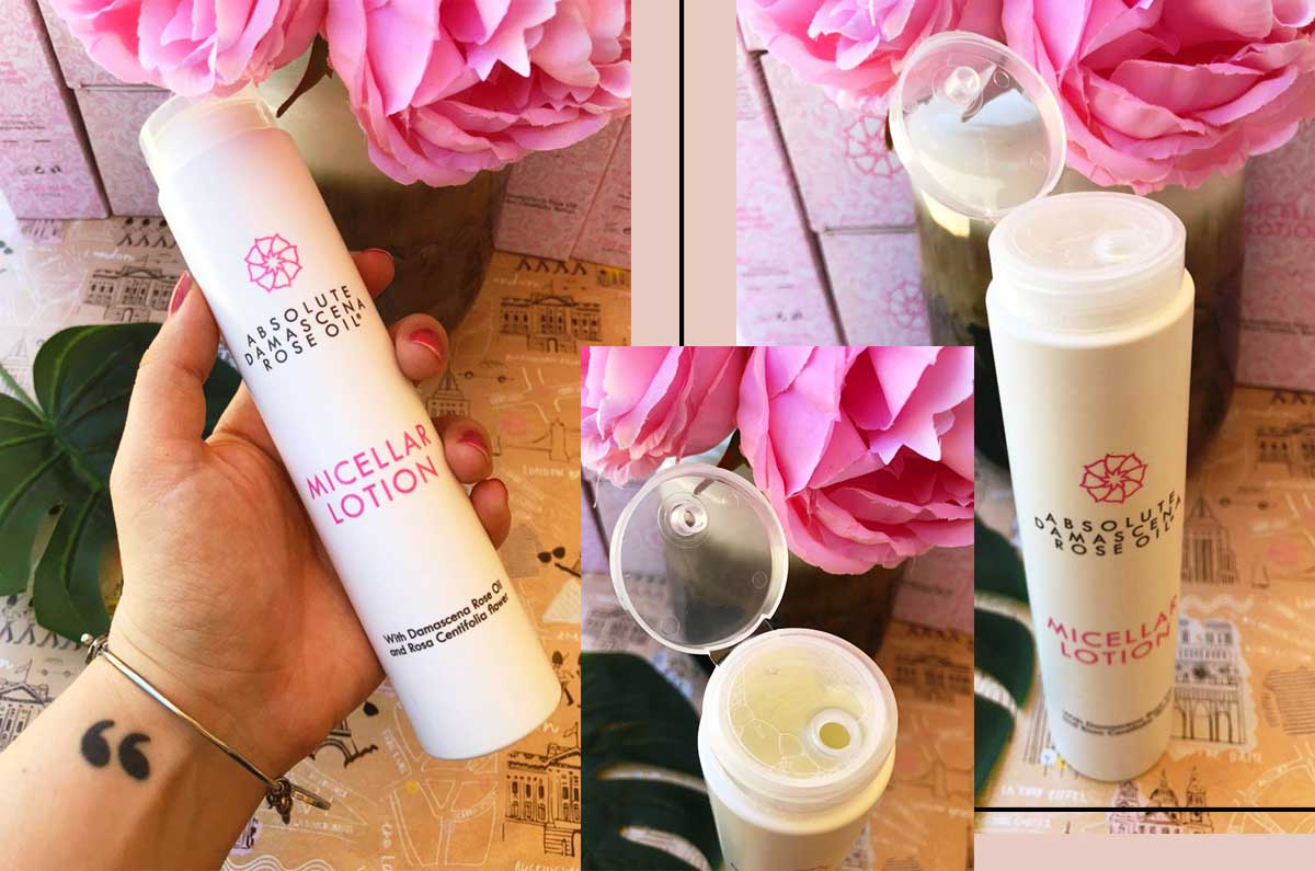 recensione Absolute Damascena linea olio Rosa Damascena: micellar lotion