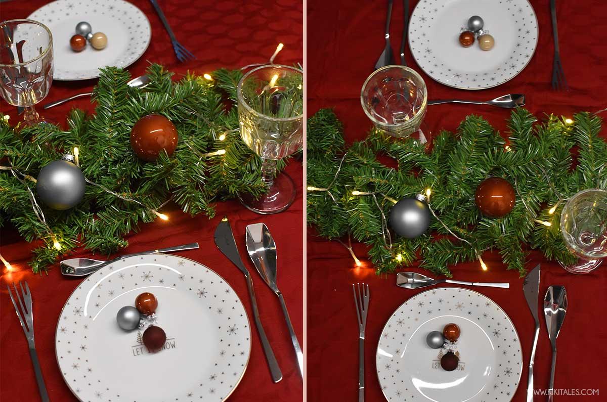 come addobbare la tavola a Natale per una cena chic