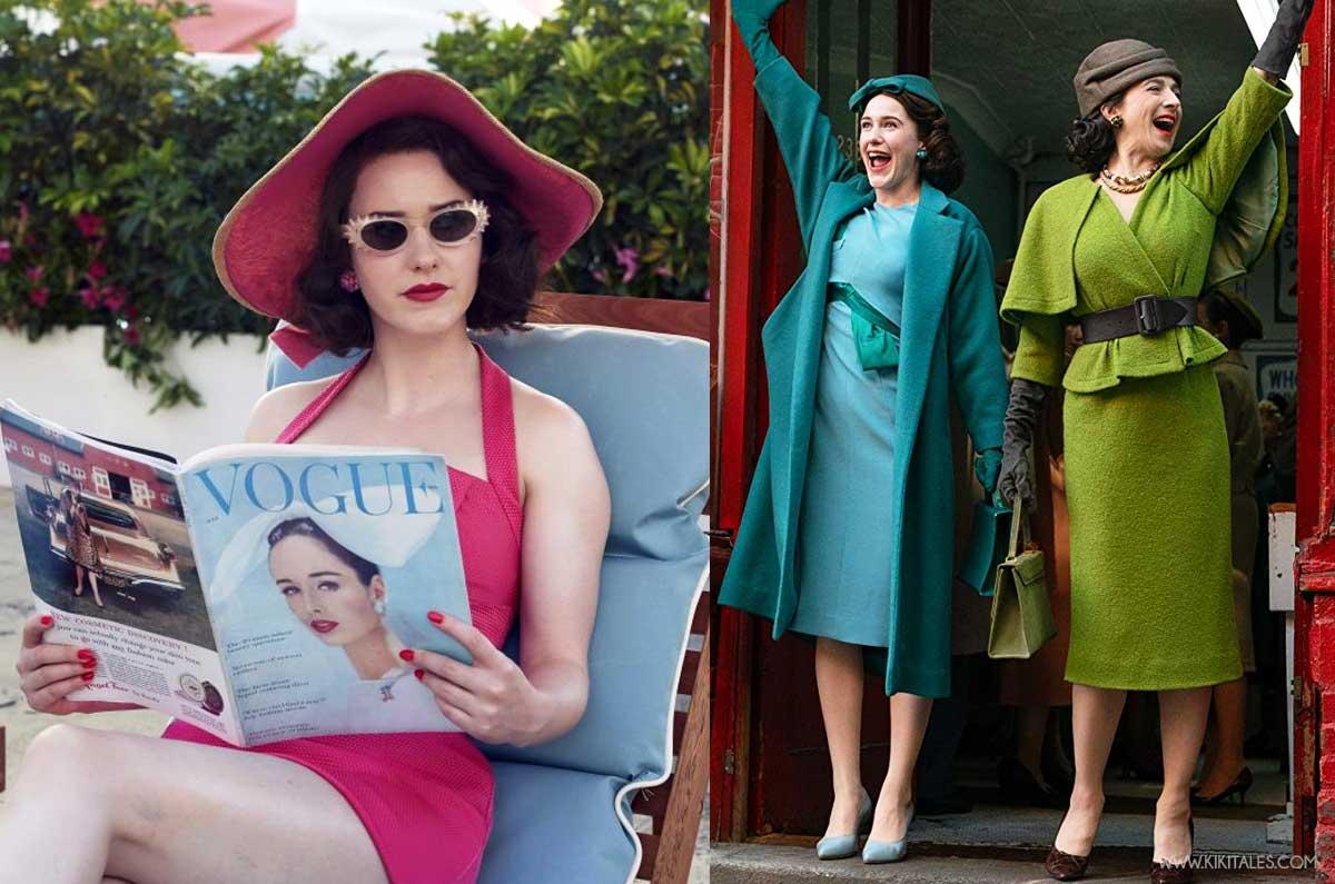 copia il look di Mrs Maisel: abbinamenti cromatici nei look anni 50