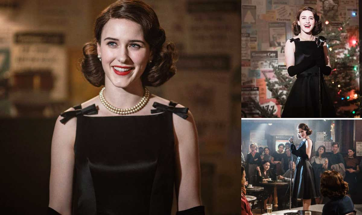 copia il look di Mrs Maisel: little black dress