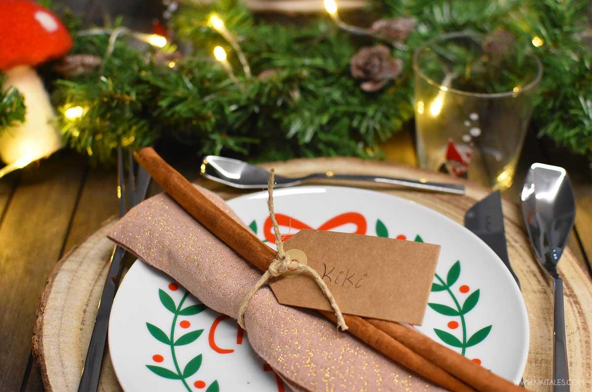 dettagli naturali per la tavola di Natale