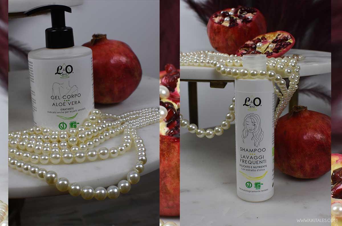 shampoo per uso quotidiano e gel corpo aloe vera lo bio