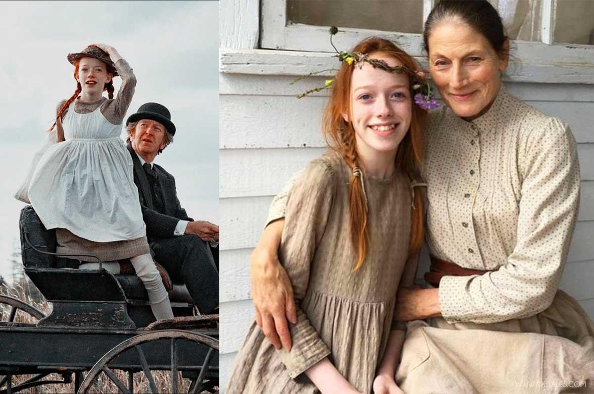 Anna con la famiglia Cuthbert